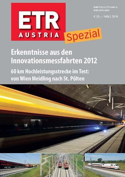 ETR Austria Special – Erkenntnisse aus den Innovationsmessfahrten 2012