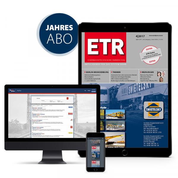Eisenbahntechnische Rundschau Jahresabonnement Ausland (digital)