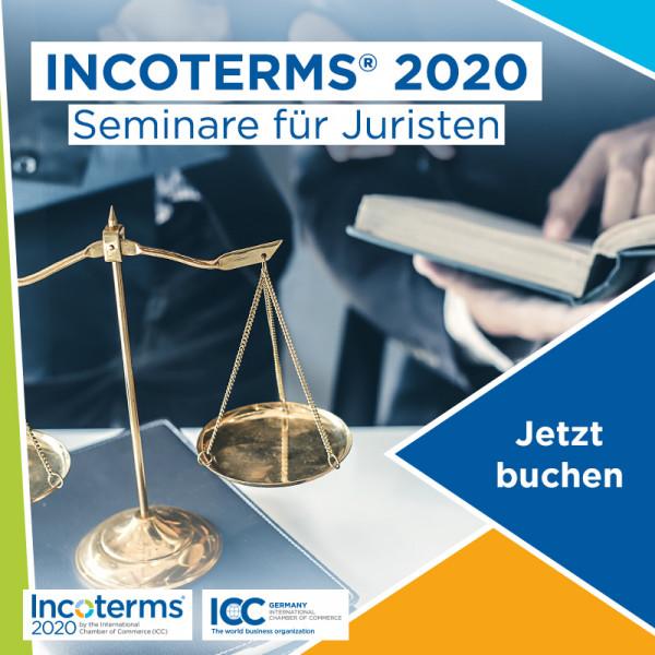 Incoterms® 2020 - Seminar für Juristen mit Livestream