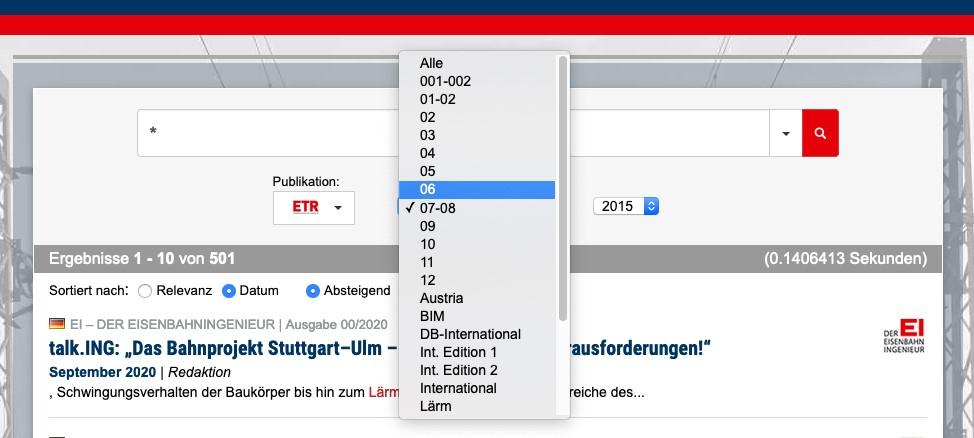 eurailpress-archiv-ausgabensuche