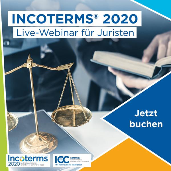 Incoterms® 2020 - Live-Webinar für Juristen