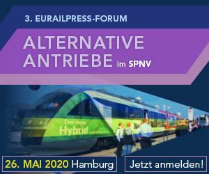 3. Eurailpress Forum Alternative Antriebe im SPNV - Frühbucherpreis