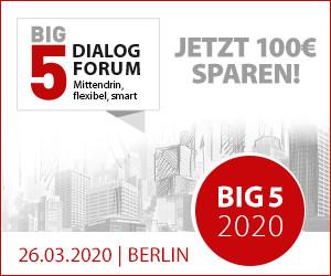 BIG5 Dialog-Forum - Frühbucherpreis