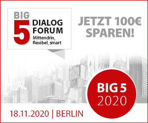 BIG5 Dialog-Forum - Frühbucherpreis