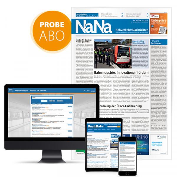 NaNa Nahverkehrs-Nachrichten Probeabonnement